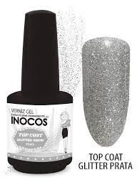 Top coat glitter argenté